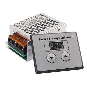 AC SCR Tegangan Power Regulator Dimmer 4000 W 220 V Motor Listrik Kecepatan Suhu Controller untuk Tungku Listrik Pemanas Air