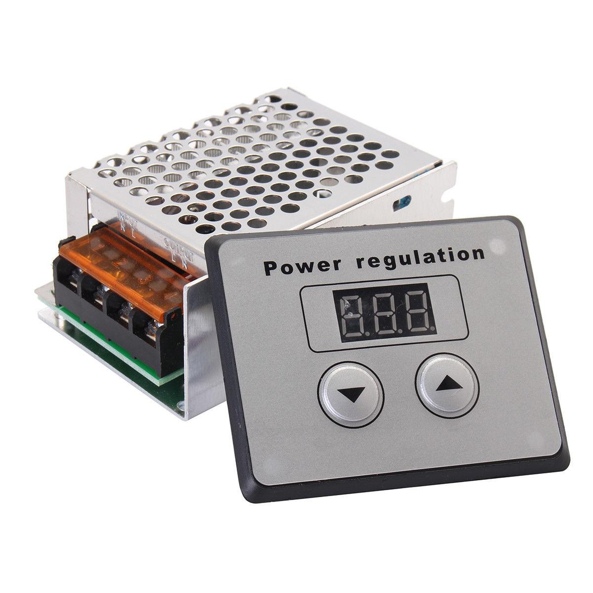 Regulador de potencia de voltaje AC SCR atenuador 4000 W 220 V controlador de temperatura de velocidad del Motor eléctrico para el calentador de agua del horno eléctrico