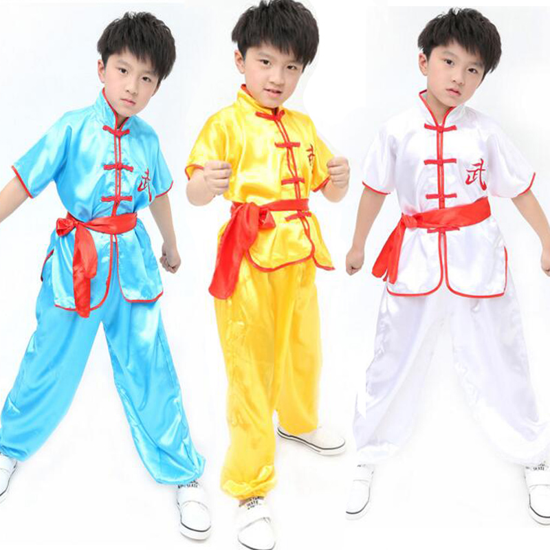 Children's Adult Chinese Folk dacne Style Taichi Uniform Kids Performance Boys Martial Arts Wear Outfits Teen Sports Costume