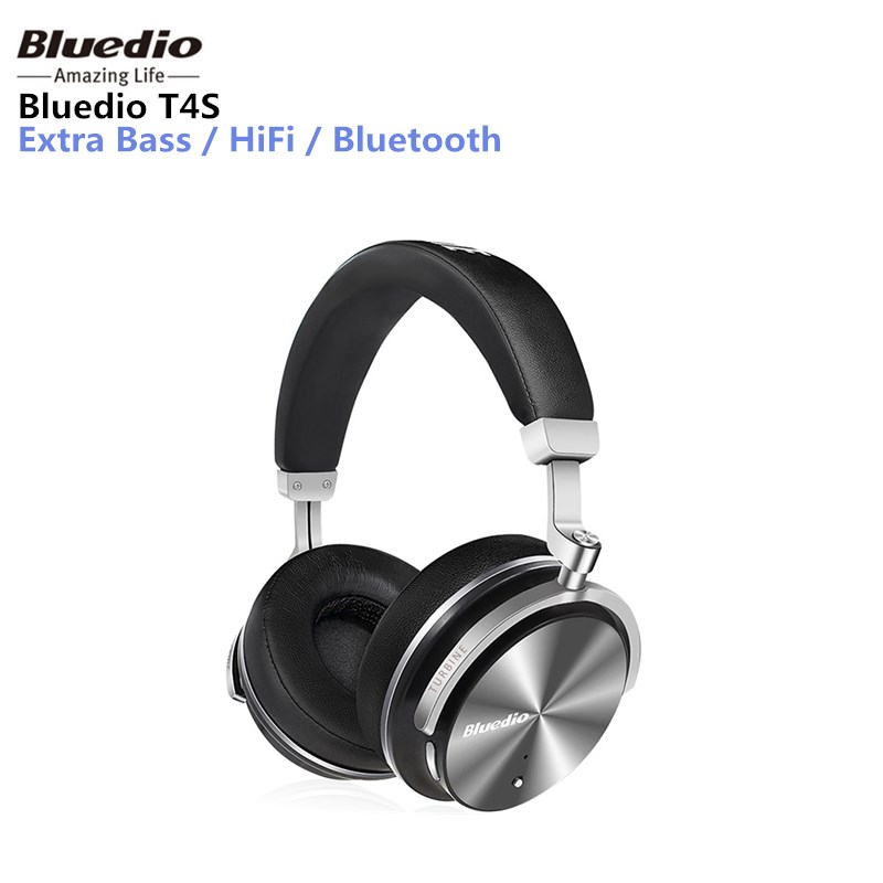 Bluedio T4S headphone Active Noise Cancelling Wireless Bluetooth headphones ANC Edition headset 3D Sound around the ear