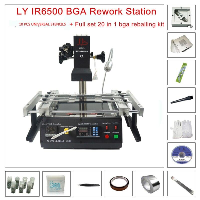 LY IR6500 V.2 IR A Raggi Infrarossi BGA stazione di rilavorazione per le Schede Madri di Riparazione BGA Lavoro + 20 in 1 bga reballing kit per il computer portatile di gioco