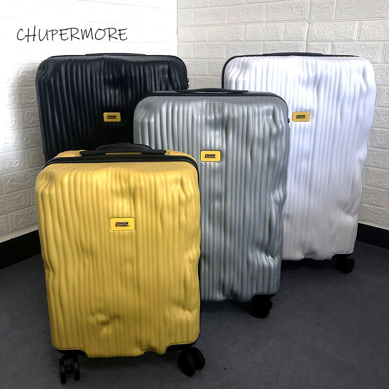 Chupermore High-Quality Suitcase Travel-Bags Rolling-Luggage Retro Luxury Wheels Brand