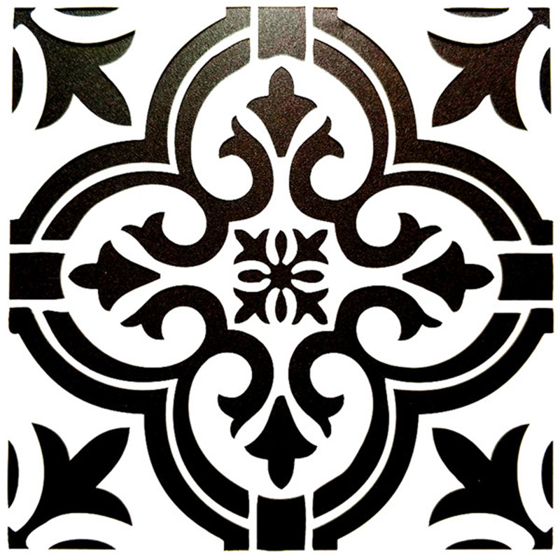 DIY Painting 15*15cm Vintage Flower Pattern Stencils Template For Tile Floor Wall Funiture Painting Decorative