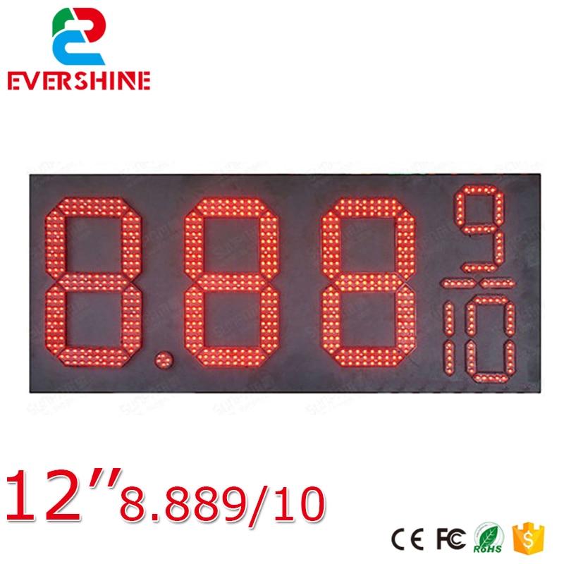 8889/10 Přední přístup Červená Barva 12 palců Venkovní - LED Osvětlení