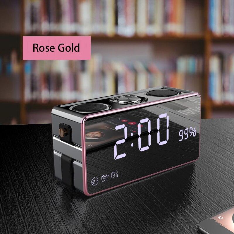 LED HD wyświetlacz cyfrowy zegar na pulpicie wielofunkcyjne 2.1 kanał 3 Subwoofer bezprzewodowy Bluetooth FM radio z budzikiem dźwięk telefonu w Budziki od Dom i ogród na  Grupa 3