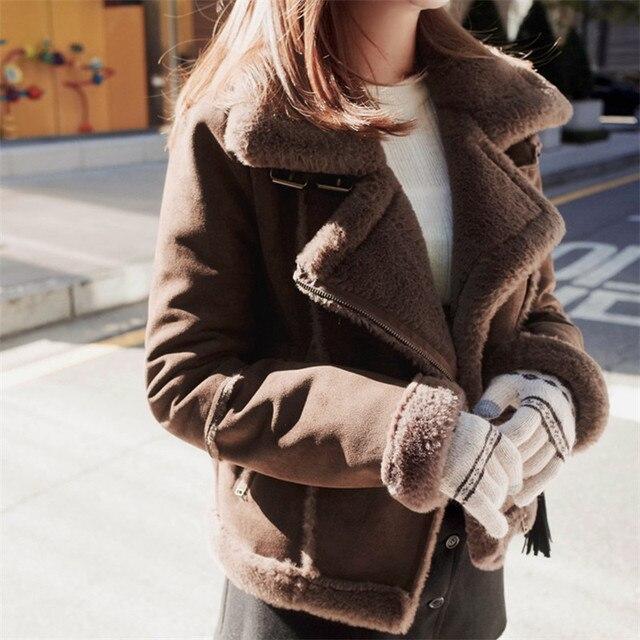 Veste hiver daim femme