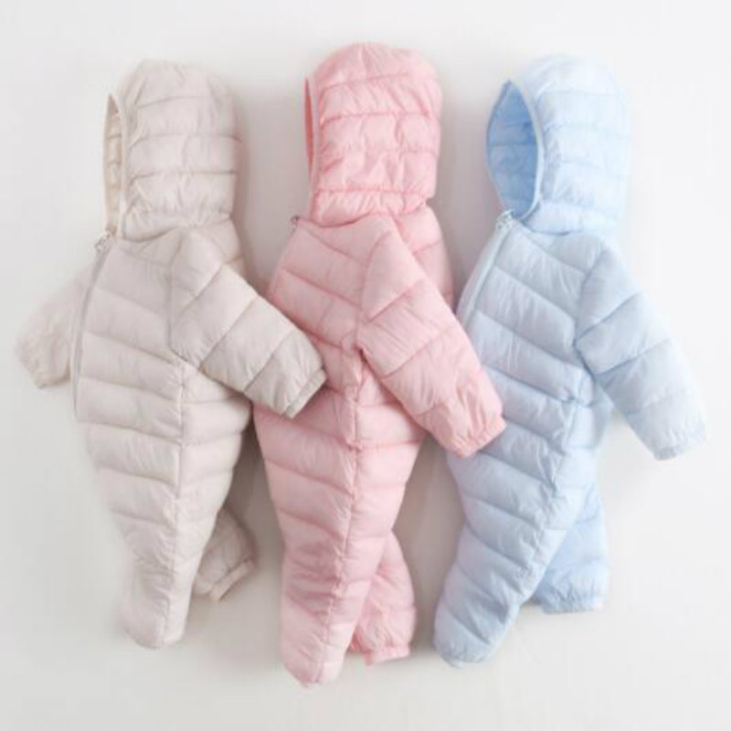 NEW Baby Rompers Winter Thick Warm Baby boy Clothing Long Sleeve Hooded Jumpsuit Kids Newborn Outwear for 0-36M new baby rompers winter thick warm baby boy clothing long sleeve hooded jumpsuit kids newborn outwear for 0 12m