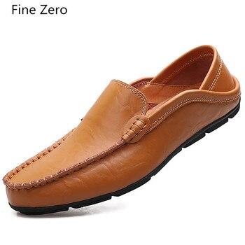 Homens Tamanho Grande 47 Loafers Mocassins Macios Outono Inverno Couro Rachado Do Couro Sapatos de Couro Dos Homens de Pele Quente Plush Flats Gommino Condução sapatos