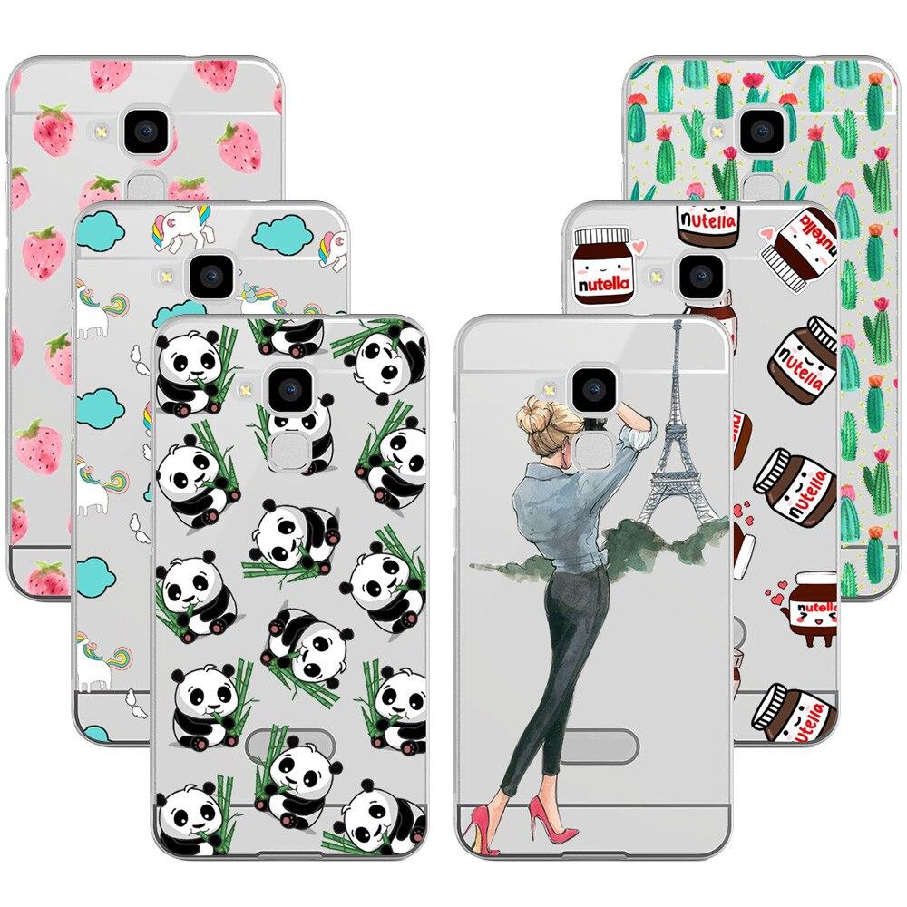 Niza diseño de moda tpu soft case para huawei gt3 honor 7 lite contraportada cas