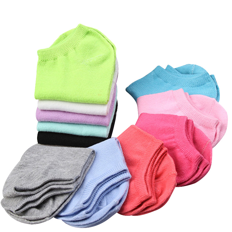 10pieces=5pairs/lot Candy Colors Women Ankle   Socks   Funny Cute Solid Color Plush Boat   Socks   Womens Lady Girl Art   Sock   Short Sox