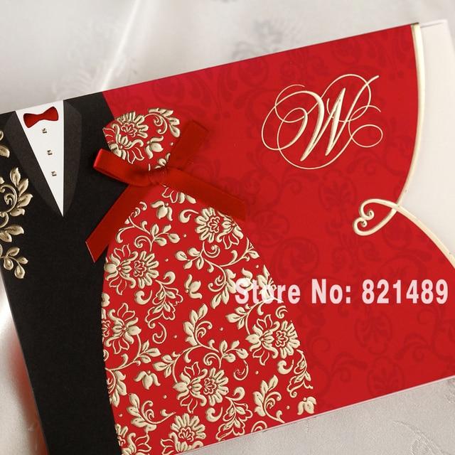 Wedding Invitation Vegas1 Black Linen White Smooth Pions Sabon Roman