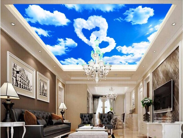 Custom 3D Ceiling Murals Wallpaper Home Decor Painting Love The