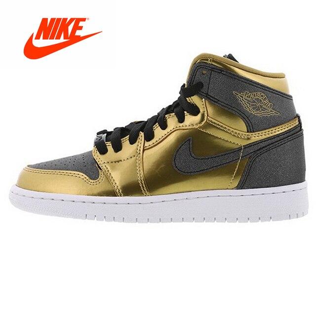 64acd140720d Original New Arrival Authentic Nike Beacon Sports Air Jordan 1 RETRO HIGH  BHM AJ1 Black Men s Slip Basketball Shoes Sneakers