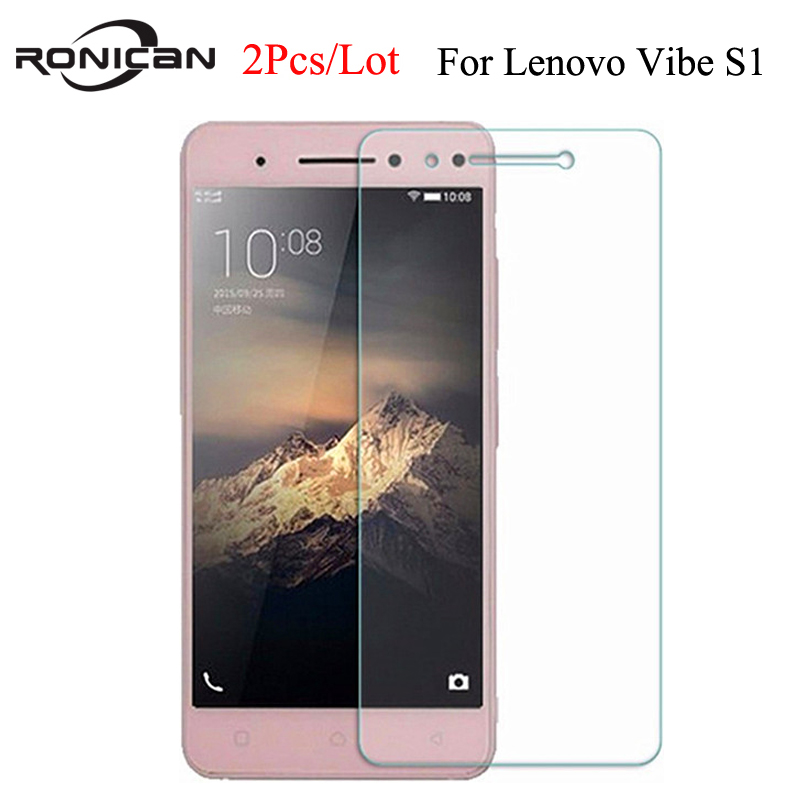 2Pcs For Lenovo Vibe S1 Tempered Glass 2.5D 9H Protective Film Explosion-proof Screen Protector On S 1 S1a40 S1c50 Dual Sim