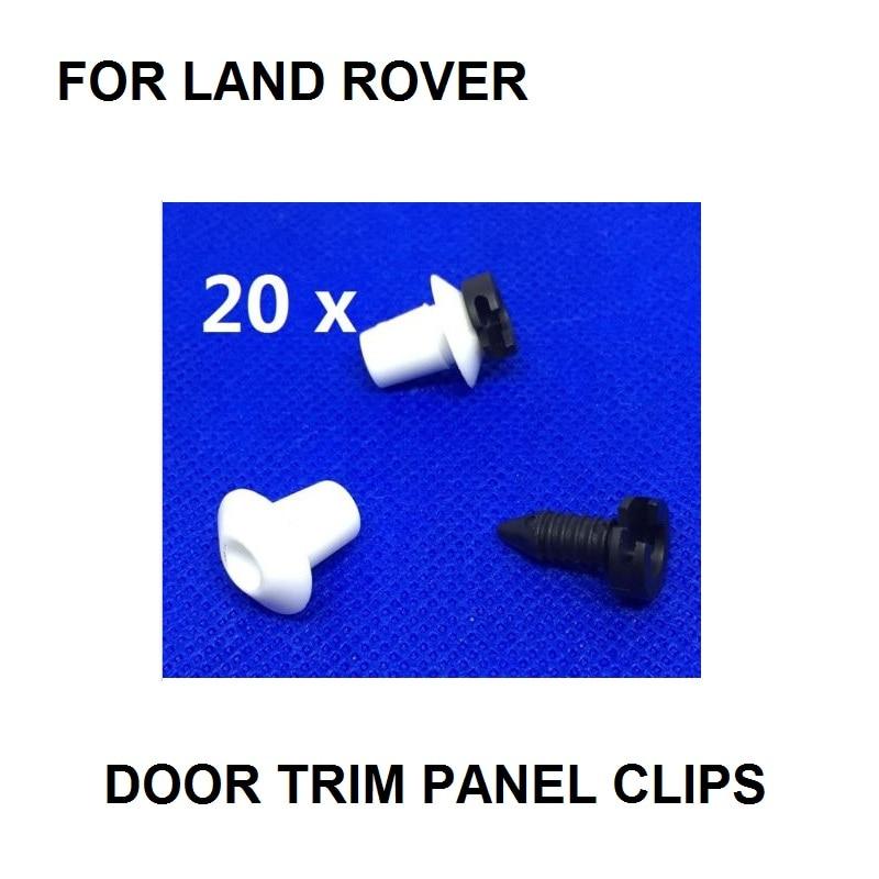 FOR LAND ROVER DEFENDER FULL INTERIOR DOOR CARD TRIM CLIP PANEL STUD FASTENER 20 SET