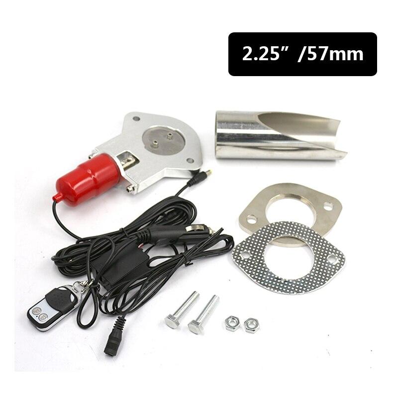 2.25 ''pouce soupape d'échappement kit de découpe soupape de contrôle d'échappement avec télécommande voiture soupape d'échappement électrique