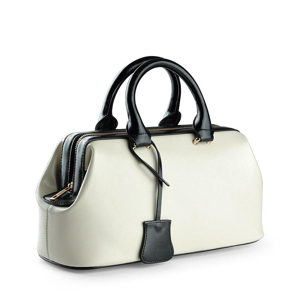 Vintage Fashion Classic Doctor Bag Genuine Leather Bag Famous Brand Designer Women Handbags High Quality Ladies Real Leather Bag