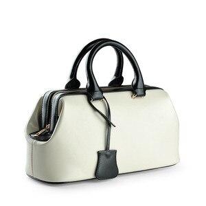 Image 4 - Vintage حقيبة الطبيب الكلاسيكية الموضة حقيبة جلدية أصلية العلامة التجارية الشهيرة مصمم حقائب النساء عالية الجودة السيدات حقيبة جلدية حقيقية