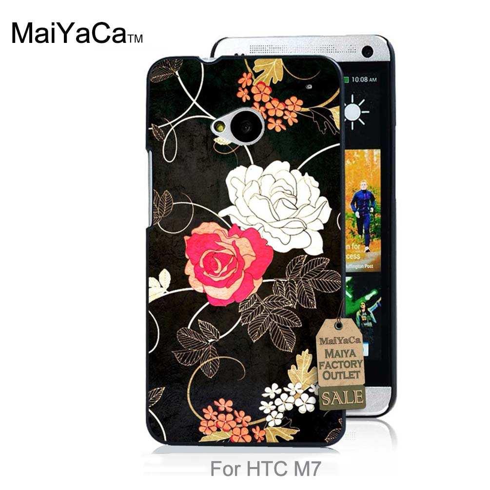 Coloridos accesorios del teléfono para htc one m7 case rilakkuma anime girl oso