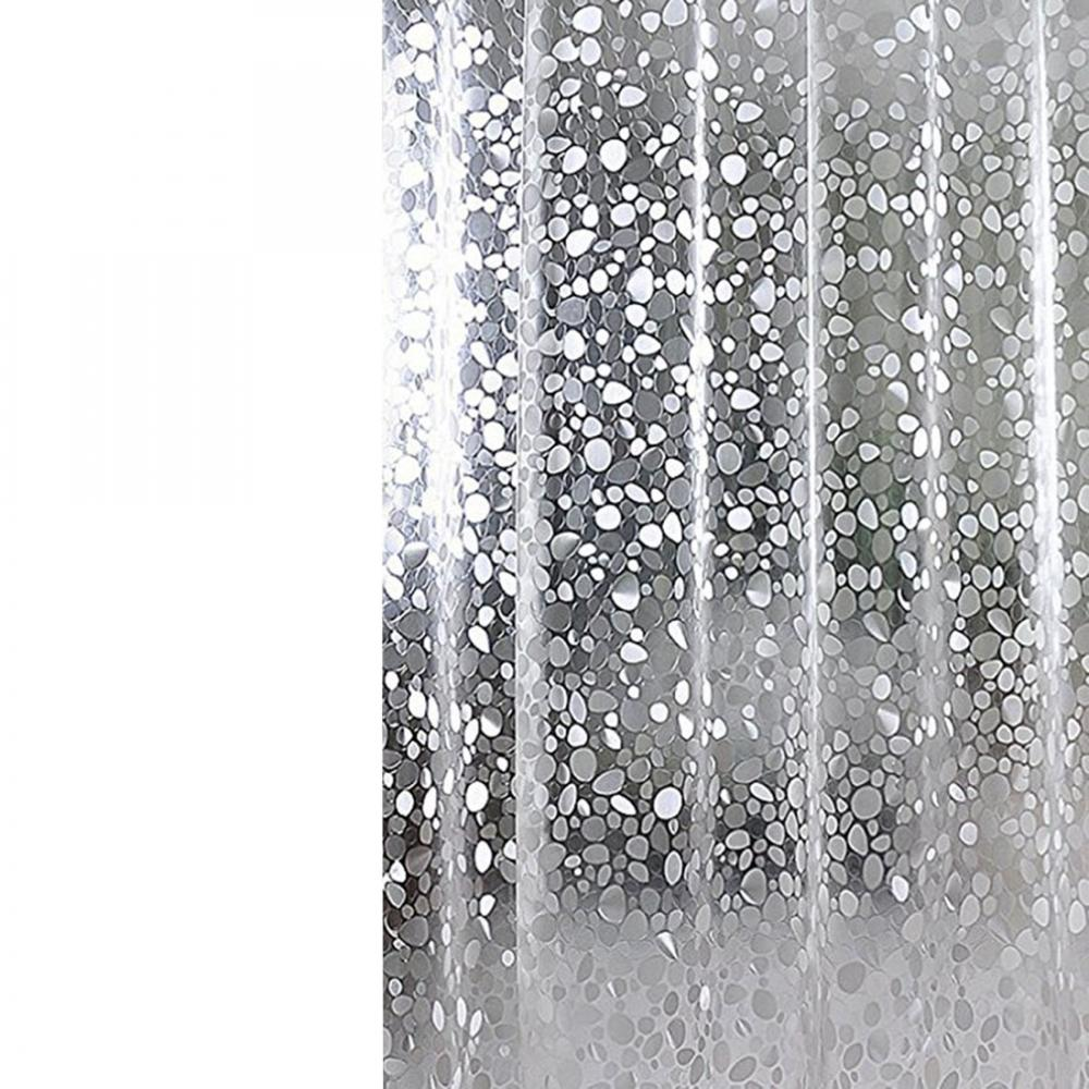 New Popular PVC Waterproof Shower Curtain Thickening Three Dimensional Printed Transparent Bath Curtain for Bathroom Decor-in Shower Curtains from Home & Garden