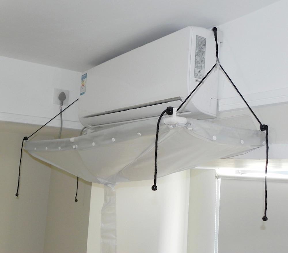 Couverture de climatiseur nettoyage climatiseur nettoyage outils de lavage bricolage ménage mural climatiseur nettoyeur