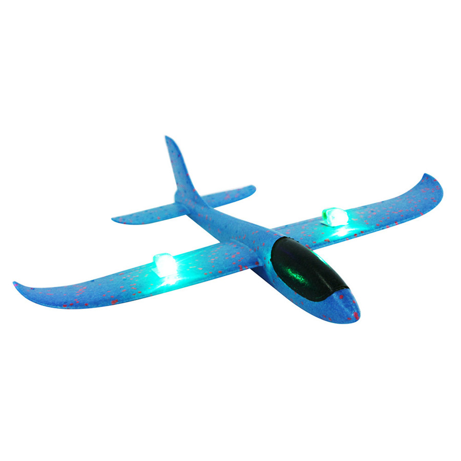 HIINST Foam Throwing Glider Airplane Inertia Led Night Flying Aircraft Toy Hand Launch Airplane Model Toy Drop Shipping