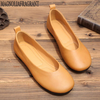 Women Real Leather Shoes Moccasins Mother Loafers Soft Flats Casual Female Driving Ballet Footwear Comfortable grandma shoes