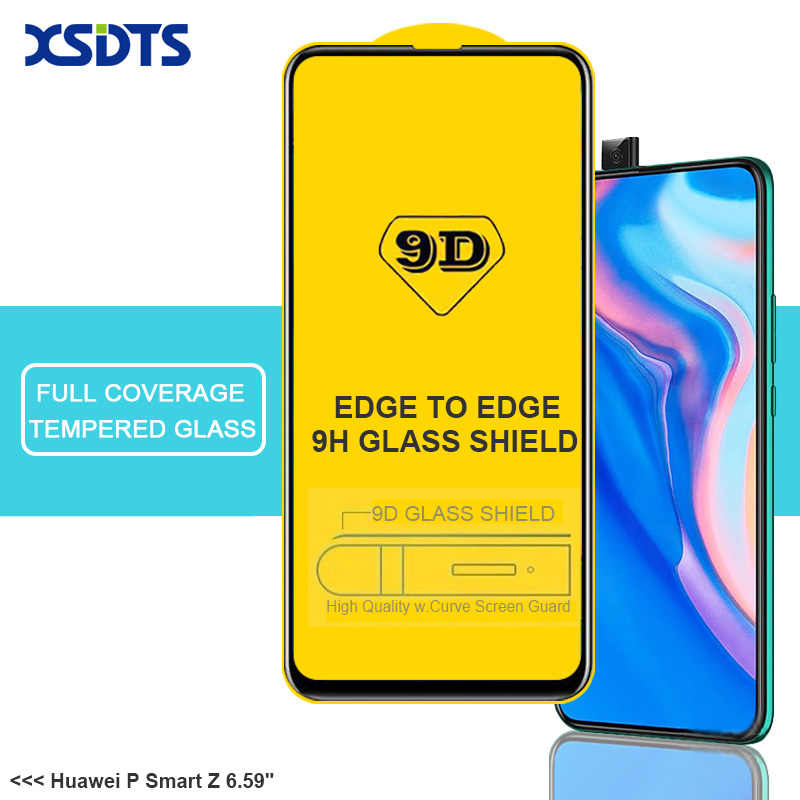 XSDTS 9D Tempered Glass For Huawei P Smart Z Plus 2018 2019 Full Cover Full Glue Screen Protector