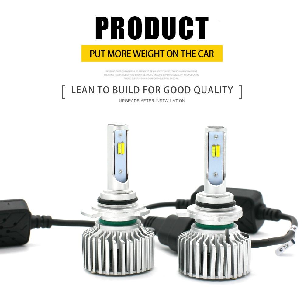 3 Color Switch CSP LED Headlight 9012 8000LM 3000 4300 6000K Fog Light 3C Head Lamps KIT Front Bulb Automobiles Fog Lamp Lights kinklight 08210 01 3000 6000k