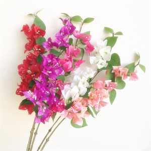 "Image 1 - 10pcs 실크 bougainvillea glabra 인공 등산 bougainvillea spectabilis 30.71 ""웨딩 centerpieces에 대 한 6 색"