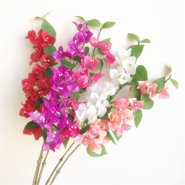 "10pcs 실크 bougainvillea glabra 인공 등산 bougainvillea spectabilis 30.71 ""웨딩 centerpieces에 대 한 6 색"