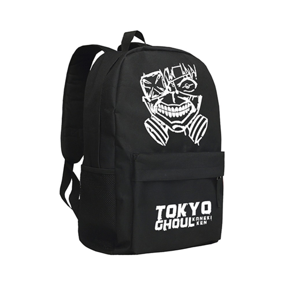 Zshop Kaneki Ken Book Bags Boy and Girls School Backpack Tokyo Ghoul Mochila Children Schoolbag