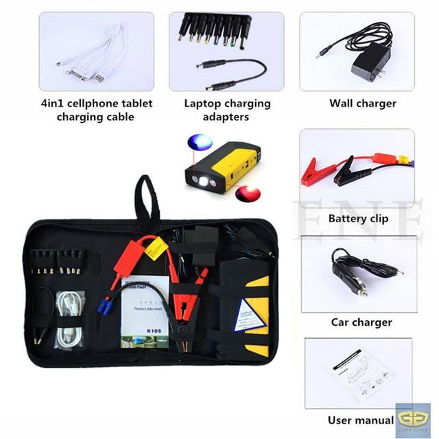 Mini Auto EPS 9000mAh Emergency 12V Car Jump Starter Portable 2USB Power Bank SOS Lights 400A Peak Car Battery Booster Charger