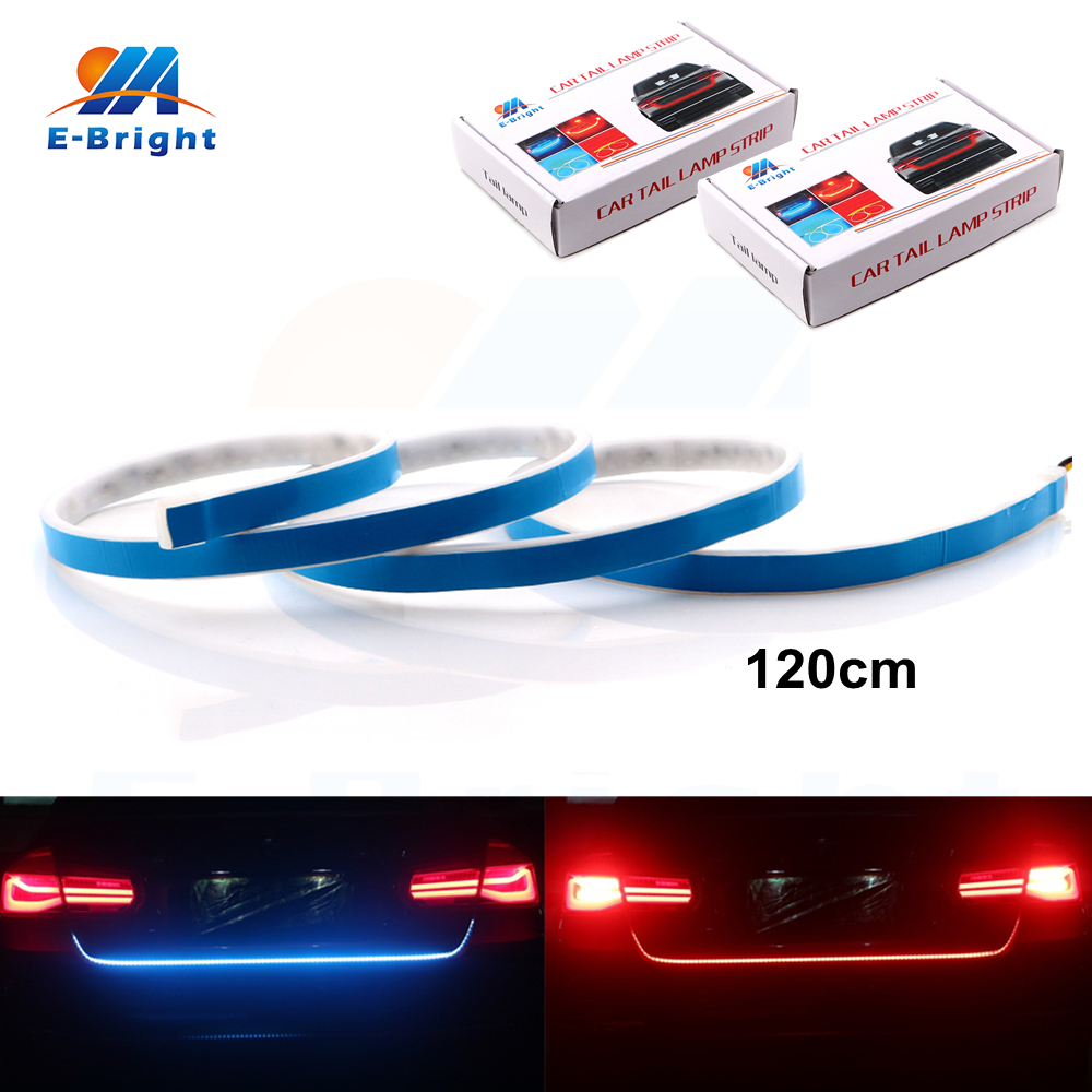 YM E-Bright 2pcs 12V <font><b>Canbus</b></font> Dynamic Streamer Car Backup Tail Luggage Compartment Lamp Strip Ice Blue/Red White/Red Free Shipping