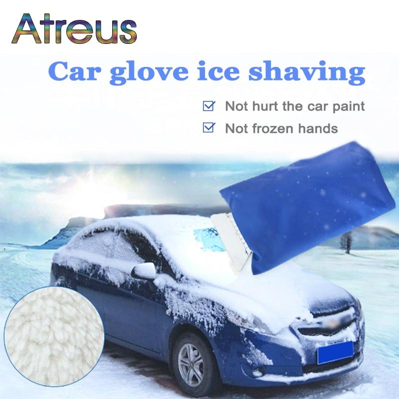 Atreus Car warm gloves snow shovel blade tool for Toyota Corolla Seat Leon Jeep Renegade Skoda Fabia Rapid Renault Duster Audi