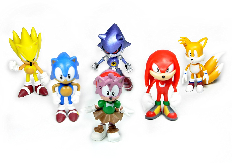 6pcs lot 2 sonic the hedgehog action figure knuckles - Super sonic 6 ...