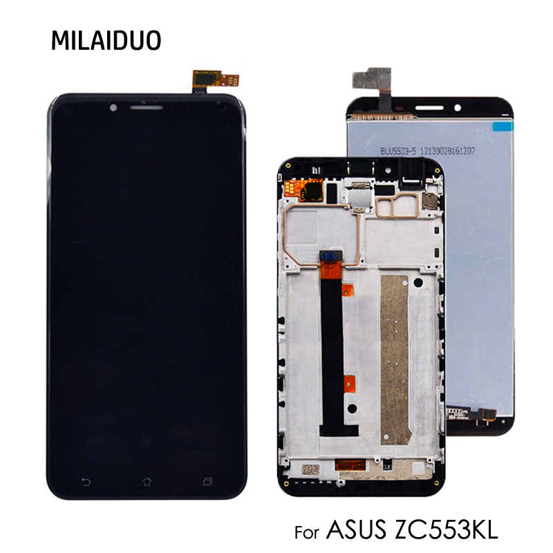 LCD <font><b>Display</b></font> For Asus Zenfone 3 Max <font><b>ZC553KL</b></font> Touch Screen Digitizer Replacement Assembly Black White Gold No Frame 5.5