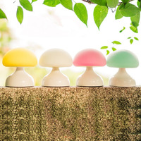 ICOCO Cute Cartoon Silicone Mushroom LED Night Light USB Rechargeable Battery Table Lamp for Home Bedroom Decor Gift for Kid