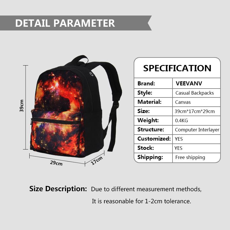be01314fd8b VEEVANV Brand 3 Pcs Set Combination School Bag 3D Printing Backpack Free  Combination Boys Casual Bag DIY 2 Pcs Set Backpack Girl