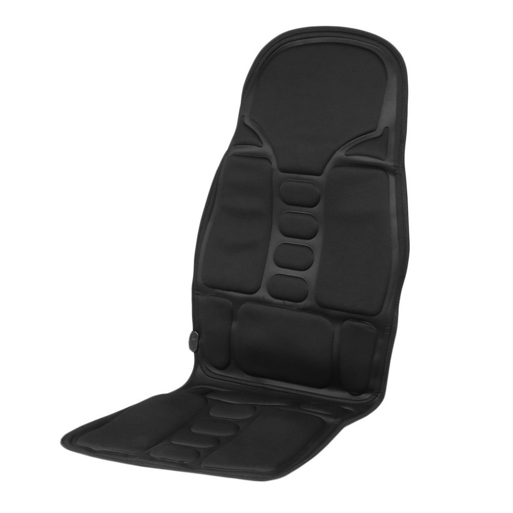 Black Car Seat Cover Support Car Household Office Full Body Massage Cushion Lumbar Heat Vibration Neck Back Massage Cushion A0 2016 hot sale back massage chair heat seat cushion neck pain lumbar support pads car