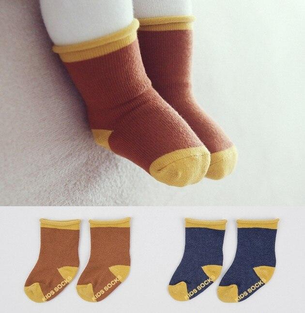 2016 Newest Korean baby socks anti slip boy girl infant toddler kids socks cotton children meias girls boys sock 0-4y