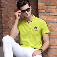 53e85bf50 Famous Brand Solid Color 3D Embroidery Casual Polo Shirts Men S Short  Sleeve 2019 M XL. Famosa Marca cor Sólida 3D Bordado Polo Ocasional Camisas  dos homens ...