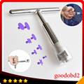 Car PDR dent T Bar tools Paintless Hail Repair T- Bar Lifter Removal with 8x glue Puller Tabs for  Washing Machine Refrigerator