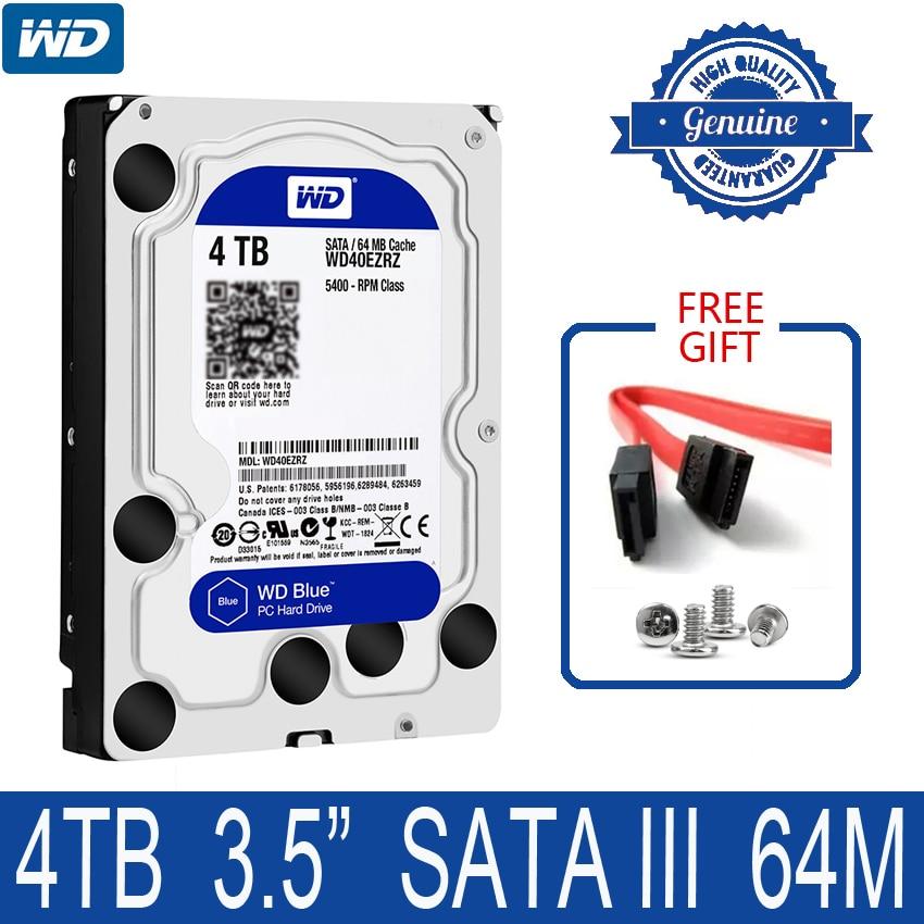 WD Blue 4TB Internal Hard Drive Disk 3 5 5400 RPM 64M Cache SATA III 6Gb