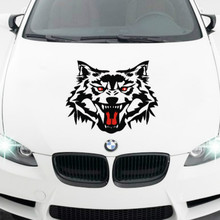 Reflective Car Styling Waist Line Engine Head Cover withWolf Motorcycle Stickers Car Pull Flower Waist Decals