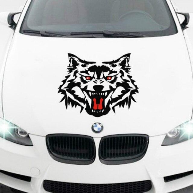 Reflektierende Auto Styling Taille Linie Motorkopfabdeckung Withwolf
