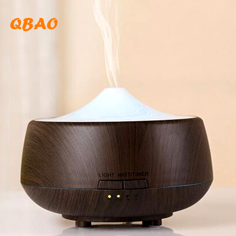 250ML Aromatherapy Diffuser Wood Led humidifier Colorful Grain Essential Oil Diffuser Ultrasonic Air Purifier Mist Maker