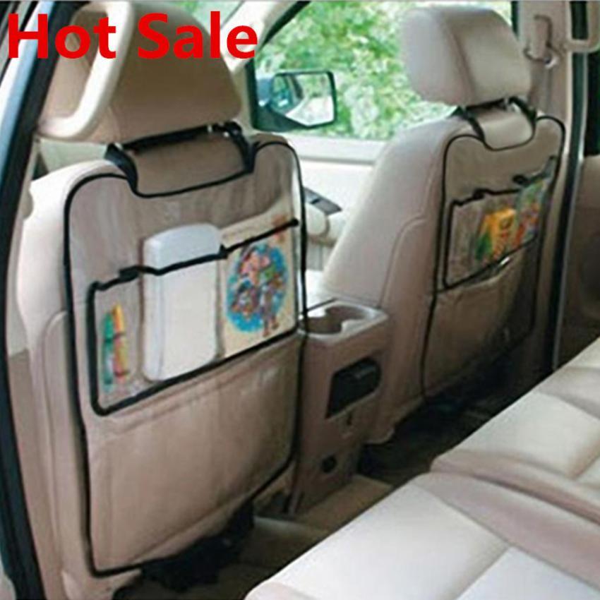 Car Auto Seat Back Protector Cover For Children Kick Mat Storage Bag dropshipping jun22
