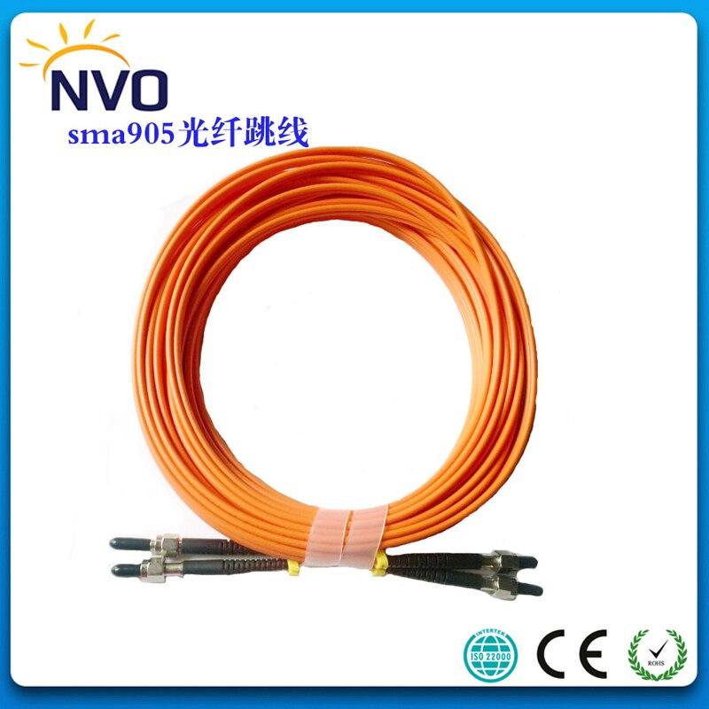 2Pcs/Lot,SMA SMA MM(62.5/125) Cable Duplex 40M,Ceramic Ferrule,PVC Jacket 3.0 mm SMA Fiber Optic Patch Cord Fiber Optic Jumper