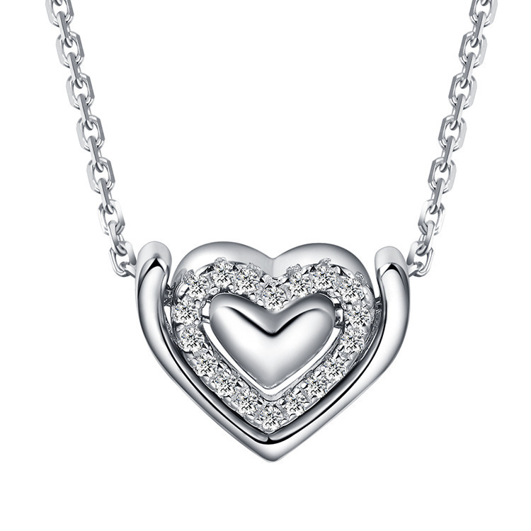 ZTUNG BvP1 S925 Sterling Silver Necklace Pendant, Korean fashion JEWELRY, love jewelry wholesale accessories